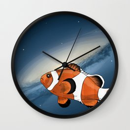 A clownfish in the universe Wall Clock