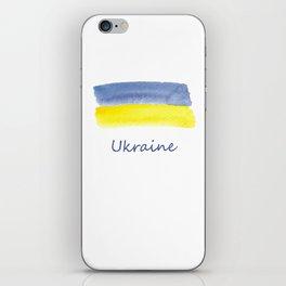 ukraine flag stripes iPhone Skin