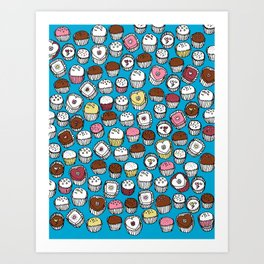 Happy Chocolates and Cakes Art Print