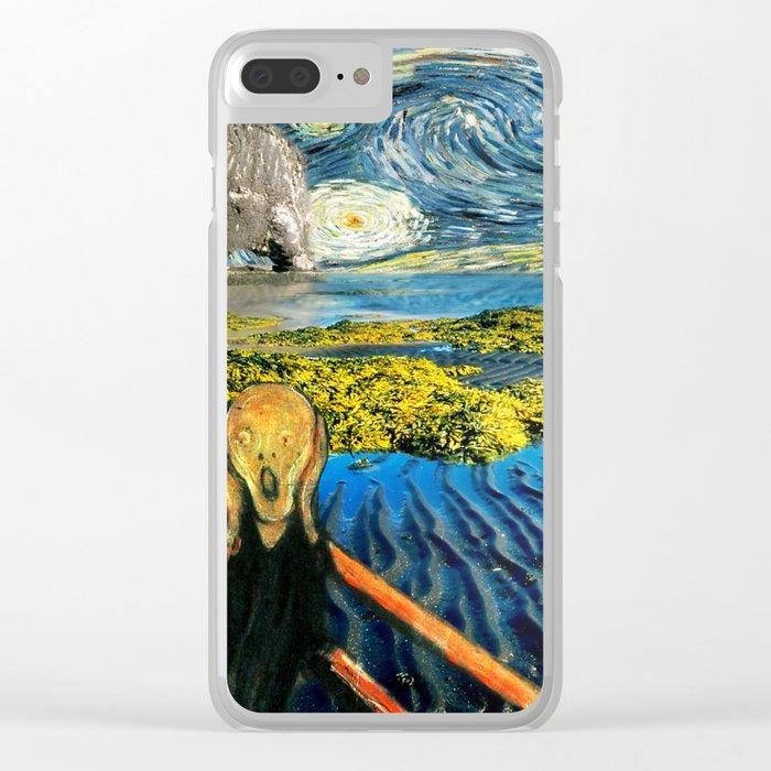 Edvard meets Vincent Clear iPhone Case