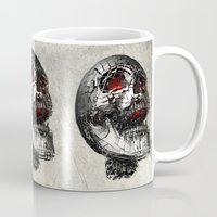 cyberpunk Mugs featuring No Laughing Matter (background option) by Obvious Warrior