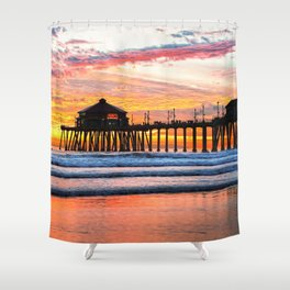HB SUNSETS  Monsoon Skies Shower Curtain