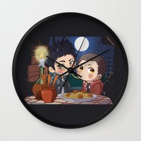 clueless Wall Clocks featuring The Stiles&TheTramp by MGNemesi