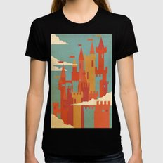 Castles  Black LARGE Womens Fitted Tee