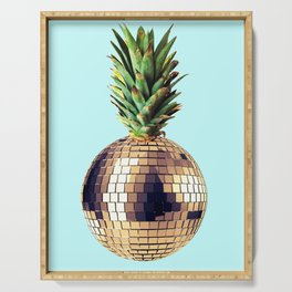 Ananas party (pineapple) blue version Serving Tray