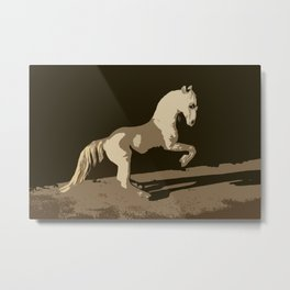 Horse in the Shadows Metal Print