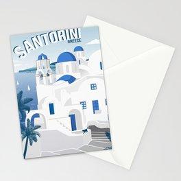 Vintage Santorini poster Stationery Cards