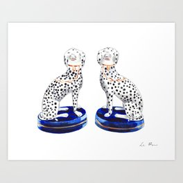 Pair of Staffordshire Dogs in Dalmation Art Print