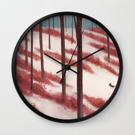 In Snow Wall Clock