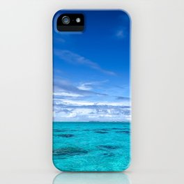 South Pacific Crystal Ocean Dreamscape with Boat iPhone Case