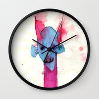 demon Wall Clocks featuring DEMON by Ghastbrow