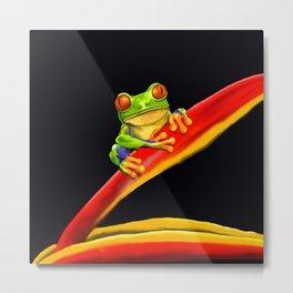 Little Tree Frog Metal Print