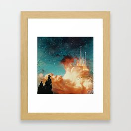 Seeing a City in the Clouds Framed Art Print