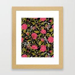 Death of Summer (black and rose) Framed Art Print