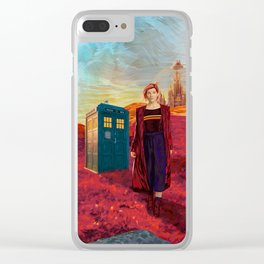 13th Doctor at Gallifrey Planet Clear iPhone Case