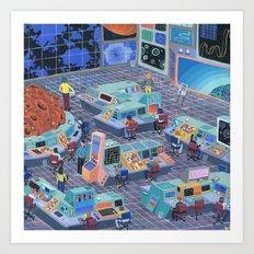 Command Center Art Print