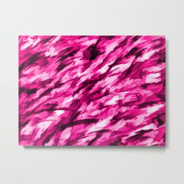 Designer Camo in Hot Pink Metal Print