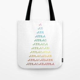 ABRACADABRA Rainbow Tote Bag