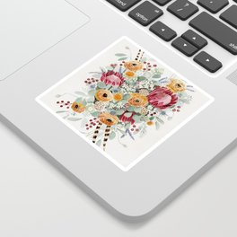 Fall Protea Bouquet Sticker