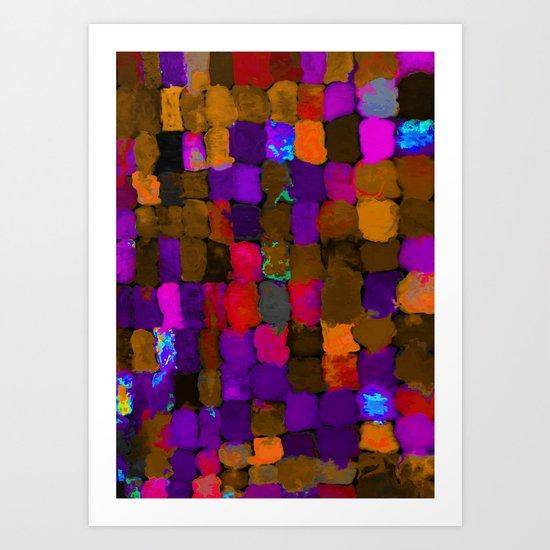 Painted Swatches: Exuberance Art Print