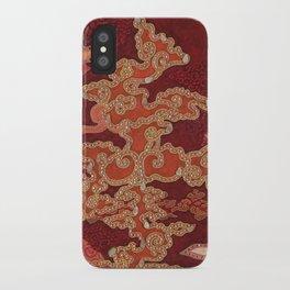 Crimson Clouds iPhone Case