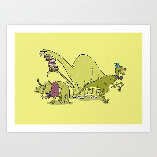 Nerdosaurs Art Print