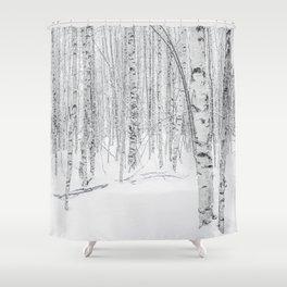 Swedish Birch Trees Shower Curtain