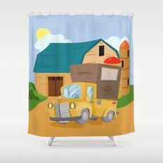TRUCK (GROUND VEHICLES) Shower Curtain