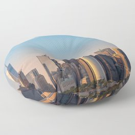 Manhattan Sunset from Governors Island Floor Pillow