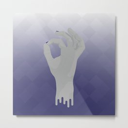 Geometric Surrealism: Okay Metal Print
