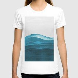 Ocean waves paint T-shirt