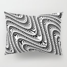 Black and White Serpentine Pattern Pillow Sham