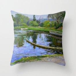 Morning park Throw Pillow