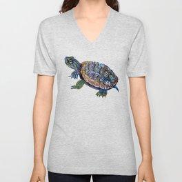Slider Baby Turtle artwork Unisex V-Neck