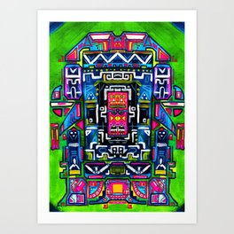 Ali Anxa the extraterrestrial Art Print