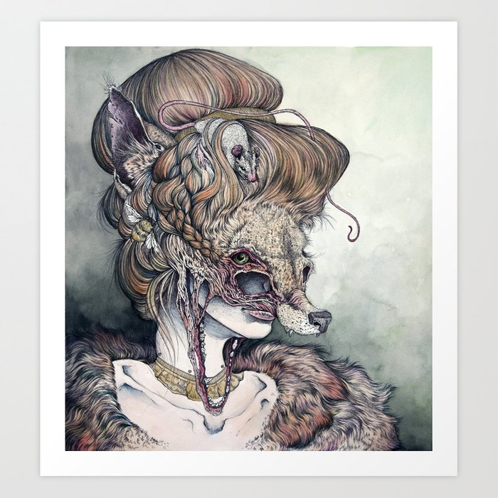 Vulpes Masquerade, now as a print! Art Print