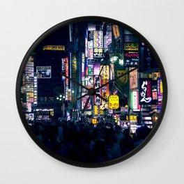 Neon Signs in Tokyo, Japan / Night City Series Wall Clock