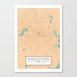 Houston Map - Color Canvas Print