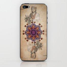 Arabesque Deck of Cards Queen Spades iPhone Skin