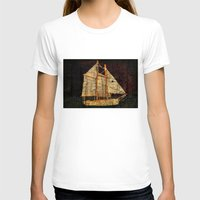 sailboat T-shirts featuring Rustic Sailboat by Michael P. Moriarty