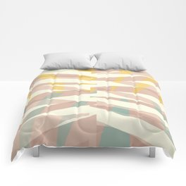 Whisper abstract art Comforters