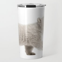 Baby polar bear walking Travel Mug