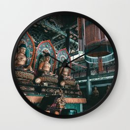 Asian Temple Travel Photography Wall Clock