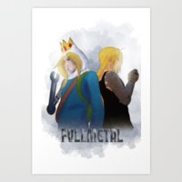 fullmetal alchemist Art Prints featuring Fullmetal by Witchy