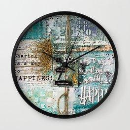 raw art Wall Clock