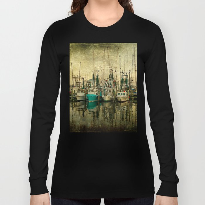 Shrimp Boat Lineup Long Sleeve T-shirt
