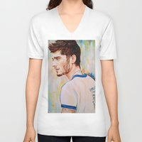 zayn malik V-neck T-shirts featuring Zayn Malik One Direction by Iván Gabela