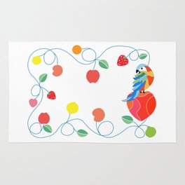 Kitchen hybrid macaw Rug
