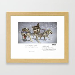 """Ammarnäs - Laponie"" en Mots & Image (French touch) by Matylda Konecka Framed Art Print"