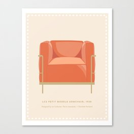 Petit Lounge Chair Canvas Print